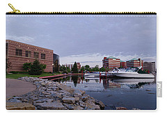Carry-all Pouch featuring the photograph Downtown Neenah by Joel Witmeyer