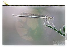 Dragonfly On Leaf Carry-all Pouch by Michal Boubin