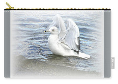 Dreamy Seagull Carry-all Pouch by Susan Dimitrakopoulos