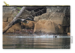 Carry-all Pouch featuring the photograph Eagle Attack II by Douglas Stucky