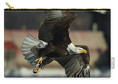 Carry-all Pouch featuring the photograph Eagle Flight by Coby Cooper