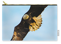 Carry-all Pouch featuring the photograph Eagle Stare Down by Jeff at JSJ Photography
