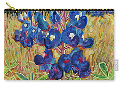 Carry-all Pouch featuring the painting Early Bloomers by Hailey E Herrera