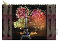 Effel Tower Paris France Landmark Photography Towels Pillows Curtains Tote Bags Carry-all Pouch