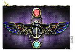 Carry-all Pouch featuring the digital art Egyptian Scarab Beetle by John Wills