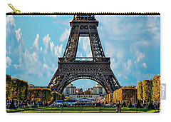 Eiffel Tower Carry-all Pouch by Anthony Dezenzio