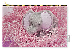 Elephant For Charity Pink Carry-all Pouch by Terri Waters