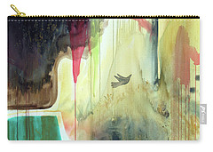Carry-all Pouch featuring the painting Envisage by Robin Maria Pedrero