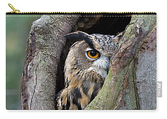 Eurasian Eagle-owl Bubo Bubo Looking Carry-all Pouch by Rob Reijnen