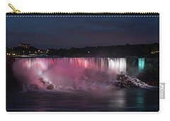 Carry-all Pouch featuring the photograph Evening At Niagara Falls, New York View by Brenda Jacobs
