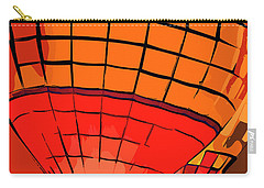 Evening Glow Red And Yellow In Abstract Carry-all Pouch