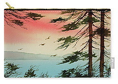 Carry-all Pouch featuring the painting Evening Light by James Williamson