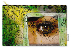 Carry-all Pouch featuring the digital art Eye, Me, Mine by Richard Ricci
