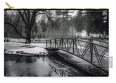 Carry-all Pouch featuring the photograph Fade To Black by Kendall McKernon