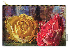 Faded Flowers Carry-all Pouch by Vladimir Kholostykh
