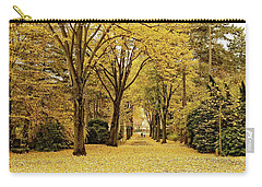 Carry-all Pouch featuring the photograph Carpet Of Golden Leaves by Ivy Ho