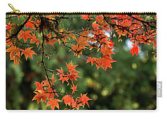 Carry-all Pouch featuring the photograph Fall Leaves by Inge Riis McDonald