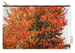 Carry-all Pouch featuring the photograph Fall Time by Randy Sylvia