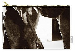 Carry-all Pouch featuring the photograph Farrier At Work by Angela Rath