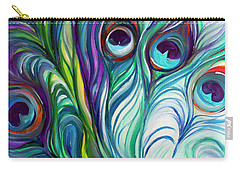 Feathers Peacock Abstract Carry-all Pouch