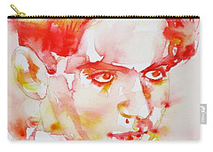 Carry-all Pouch featuring the painting Federico Garcia Lorca - Watercolor Portrait by Fabrizio Cassetta