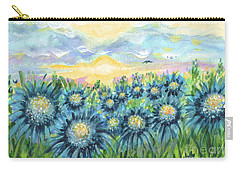 Field Of Blue Flowers Carry-all Pouch