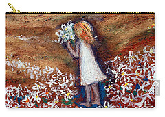 Field Of Flowers Carry-all Pouch by Winsome Gunning