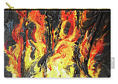 Carry-all Pouch featuring the mixed media Fire Too by Angela Stout