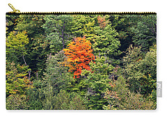 Carry-all Pouch featuring the photograph First Autumn Color by Alan L Graham