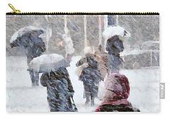 Carry-all Pouch featuring the digital art First Snow by Gun Legler