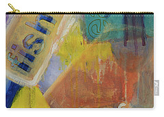 Carry-all Pouch featuring the painting Fish Cafe by Susan Stone