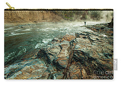 Carry-all Pouch featuring the photograph Fishing Day by Iris Greenwell