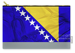 Flag Of Bosnia Carry-all Pouch
