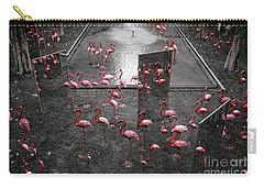 Carry-all Pouch featuring the photograph Flamingo by Setsiri Silapasuwanchai