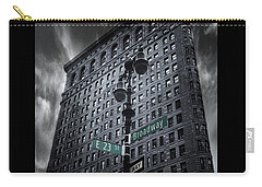 Carry-all Pouch featuring the photograph Flatiron Noir by Jessica Jenney