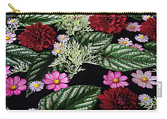 Carry-all Pouch featuring the photograph Floating Flower Bouquet by Byron Varvarigos