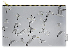 Flock Of Birds  Carry-all Pouch by Andrea Kollo