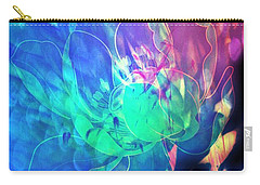 Floral Abstract 17-01 Carry-all Pouch by Maria Urso