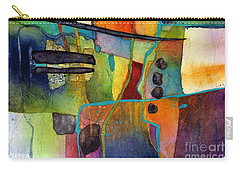 Carry-all Pouch featuring the painting Fluvial  Mosaic by Hailey E Herrera