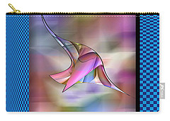 Carry-all Pouch featuring the digital art Fly by Iris Gelbart