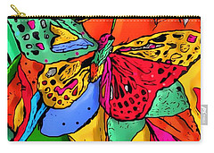 Carry-all Pouch featuring the digital art Fly My Butterfly By Nico Bielow by Nico Bielow