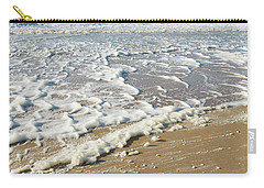Carry-all Pouch featuring the photograph Foam On The Waves by Hans Engbers