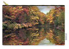 Carry-all Pouch featuring the photograph Foliage Reflections by Jessica Jenney
