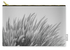 Foxtails On A Hill In Black And White Carry-all Pouch