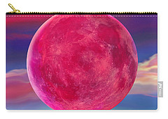 Carry-all Pouch featuring the digital art Full Pink Moon by Robin Moline