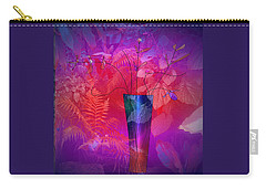 Carry-all Pouch featuring the digital art Garden Vase by Iris Gelbart
