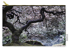 Garden View In Blue Carry-all Pouch by Don Schwartz