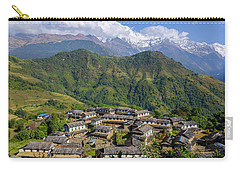 Ghandruk Village In The Annapurna Region Carry-all Pouch