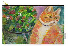 Ginger With Flowers Carry-all Pouch