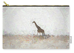 Giraffe Abstract Carry-all Pouch by Ernie Echols